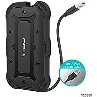 USB 3.1 Gen1 SATA Waterproof Carcasa para Disco Duro Externo de 2.5'' - PeakLead T2566II IPX6 Impermeable Alojamiento Caja con SuperSpeed SATA HDD, SSHD y SSD, Hard Disk Drive estuche, adaptador, Caddy, Type A cable