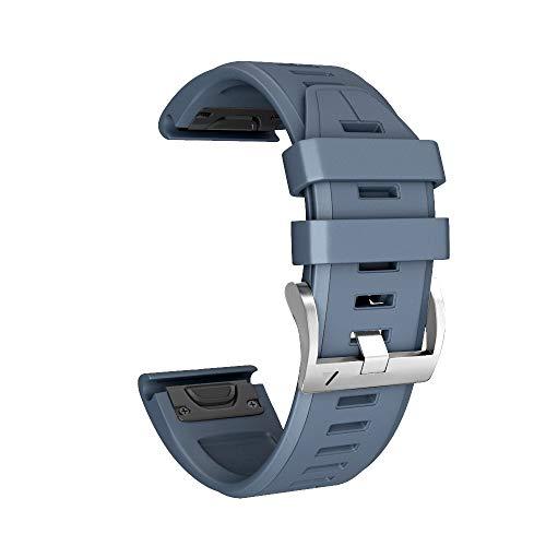 Huhu833 für Garmin Fenix 5/5 Plus Armband, 22 MM Silicagel Weiche Schleife UhrBand Schnellinstallation Uhrenarmband Ersatzarmband Strap für Garmin Fenix 5/5 Plus 6.70