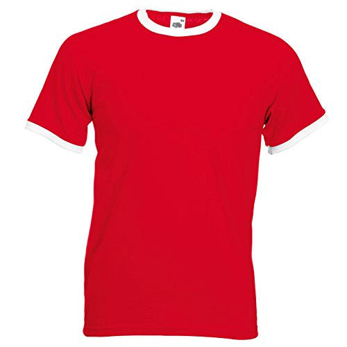 Fruit of the Loom Contraste Bordes otro color Camiseta