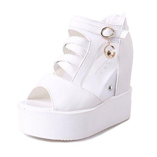 fashion chaussures de Dame/Version coréenne de hautes bottes sandales à plateforme/mesh chaussures creux A