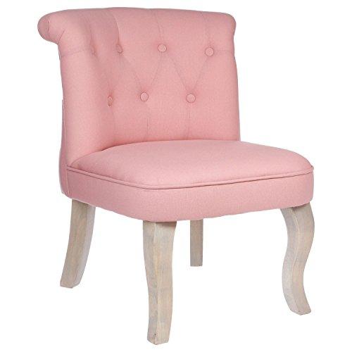Sessel Kröten–Leinen und Baumwolle–Farbe pink–Sitzsack gesteppt Solide