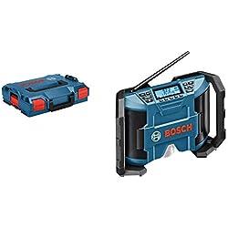 Bosch Professional Radio GPB 12V-10 Radio (12V, FM/AM et MP3, L-BOXX)