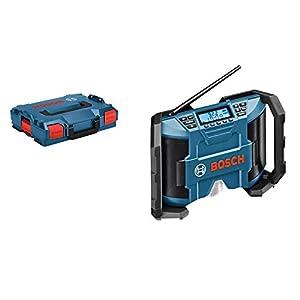 Bosch Professional GPB 12V-10 – Radio a batería para construcción (12 V, doble alimentación, FM/AM, MP3, sin batería, en L-BOXX)
