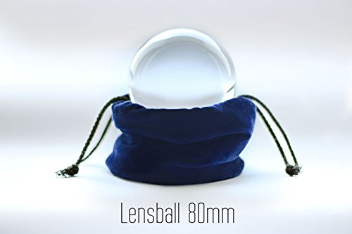 Contact Lensball 80mm - Quartz Premium Crystal Ball for Contact Juggling Ball - Lens Ball Glass Ball