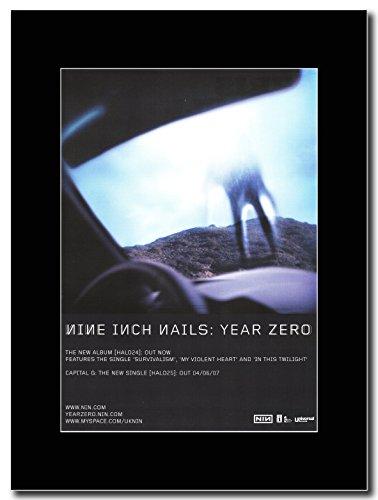 Nine Inch Nails-Year Zero Magazine Promo su un supporto, colore: nero