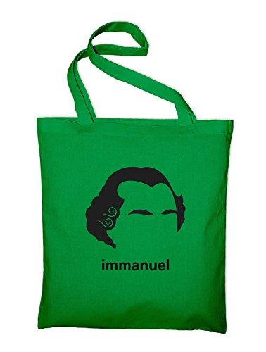 Immanuel Kant Jutebeutel mit Aufdruck Grün