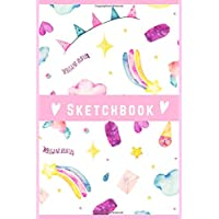 "Sketchbook : Cute Sketchbook for Girls with 100 Pages of 6""x9"" Blank Paper for Drawing, Doodling or Learning to Draw With a Beautiful design Pink Soft  Cover and  Matte finish ."