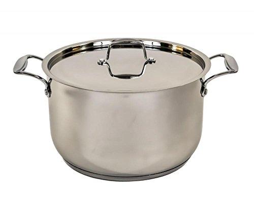 mastercook-stainless-steel-ovenproof-casserole-stock-stew-soup-pot-pan-saucepan-24cm-61ltr