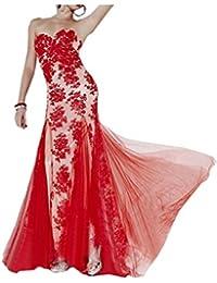 Por la noche en forma de corazón de la Toscana para mujer vestidos de novia sirena