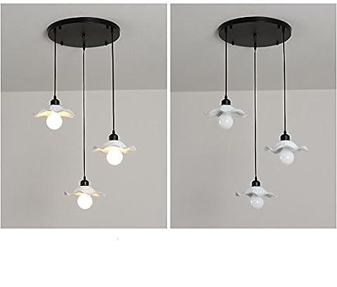 GBT Creative Restaurant Lustre couloir Lustre, 3Tête Cercle? Lampes LED, lumière chaude, éclairage Blanc, lustres, Lampes de lumières d'intérieur, extérieur, Lampes de mur?
