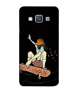 PrintVisa Designer Back Case Cover for Samsung Galaxy A5 (2015) :: Samsung Galaxy A5 Duos (2015) :: Samsung Galaxy A5 A500F A500Fu A500M A500Y A500Yz A500F1/A500K/A500S A500Fq A500F/Ds A500G/Ds A500H/Ds A500M/Ds A5000 (Black background Crazy girl)