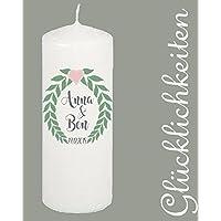 Hochzeitskerze/ Hochzeitskerze personalisiert / Kerze mit Namen /Hochzeitskerze mit Namen und Datum/Hochzeitskerze vintage