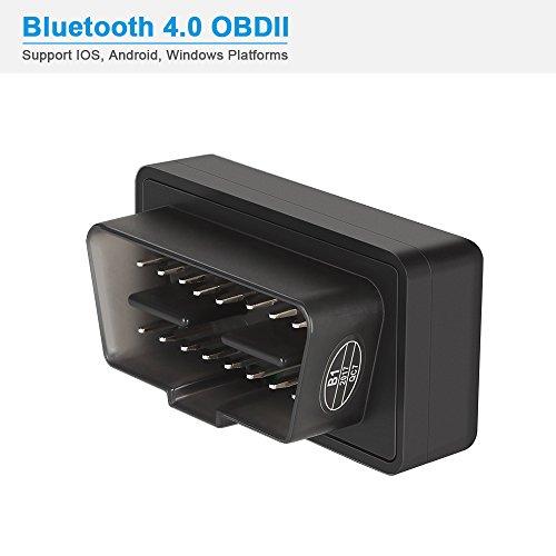 Jevogh V06H4 OBD2 Bluetooth 4,0 OBDII Scanner Adapter Auto Codelesergerät Diagnosegerät Codeleser, Mini OBD Motor Test Scanner Werkzeug mit IOS, Android und Windows Plattform