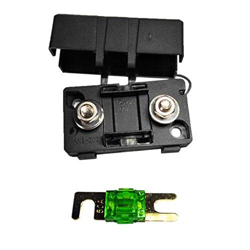 Dolity Kfz Auto Mini Ans Sicherungshalter Fuse Box Block Staubdichte Abdeckung - Ampere Auswählen - Schwarz -50A Fuse Block-box