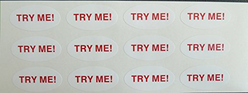 12-Promotional-Retail-Stickers-TRY-ME-Oval-Self-Adhesive-Labels