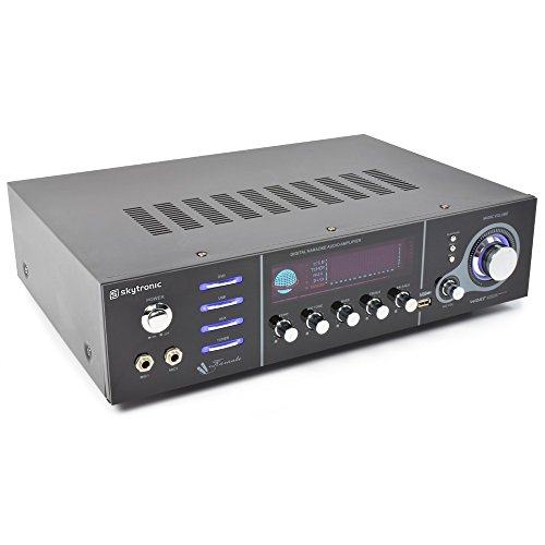Skytronic AV-320 5.0Kanäle Surround Schwarz - AV-Receiver (5.0 Kanäle, Surround, 250 mV, 47000 Ohm, RCA, Bananenstecker/Polklemmen)