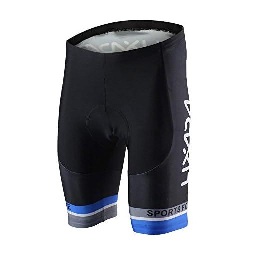 Lixada Uomini Traspirante Asciugatura Veloce Confortevole Maglia Manica Corta + Pantaloncini Imbottiti