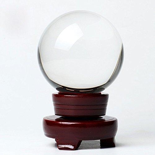 BTSKY bola de cristal clara con soporte de madera para fotografía o e