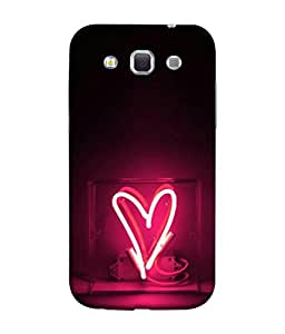 PrintVisa Designer Back Case Cover for Samsung Galaxy Win I8550 :: Samsung Galaxy Grand Quattro :: Samsung Galaxy Win Duos I8552 (Lightening Heart In Pink Design)