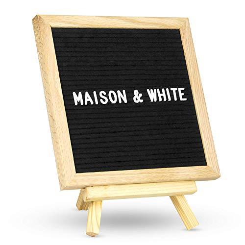 Maison & White Fühlte Brief Board Nachricht Zeichen | 322 enthaltene Briefe | Creative Peg-Anschlagbrett-Inspiration | Freistehend oder Wandmontage 10x10in