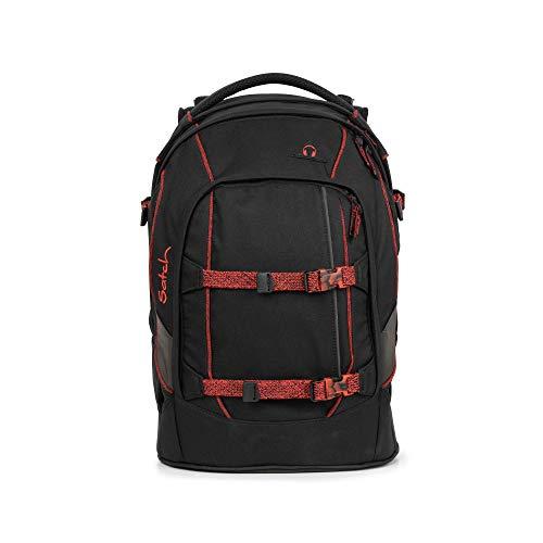 satch Pack ergonomischer Schulrucksack für Mädchen und Jungen - Black Volcano
