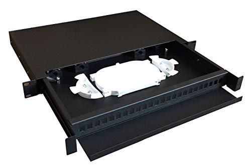 48,3cm 24/48cores Typ Schiebetür 24Port Rack Montiert Innen Faser Patch Panel Termination Box SC oder LC Adapter -
