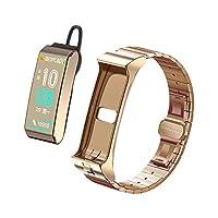 ZSSM Fitness Tracker AI Smart Bracelet Bluetooth Headset Activity Tracker Blood Pressure Stopwatch Sport Pedometer 2 in 1 0.96