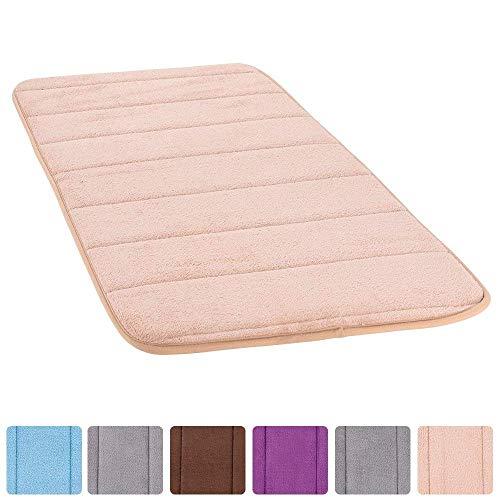 Badteppich aus Memory-Schaum, Rutschfest, waschbar, super saugfähig, weich, gemütlich, dick und langlebig, SAMT, 20 W- 31,5 L Zoll Khaki - Salbei Shag Teppich