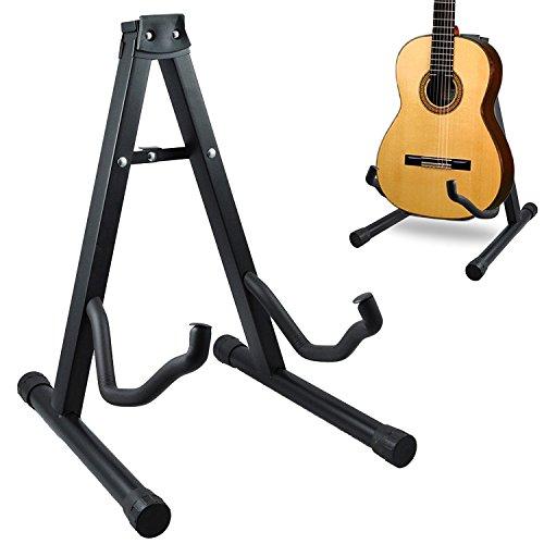 Soporte para guitarra, marco plegable y duradero, universal, para todo tipo de guitarras eléctricas, acústicas y bajos