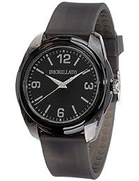 Morellato - R0151101001 - JJ - Montre Mixte - Quartz Analogique - Cadran Noir - Bracelet Plastique Noir