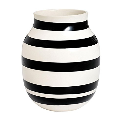 Kähler Design - Vase - Omaggio - Keramik - Schwarz (20cm)