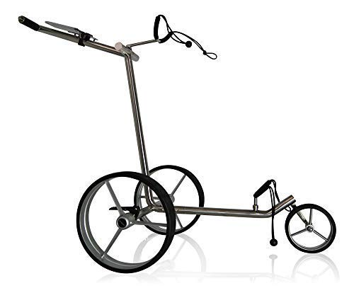 tour-made Haicaddy® Travel PRO HC3 Edelstahl Flat 3-Rad Golftrolley Pushtrolley