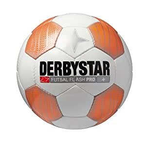 Derbystar Ballon de football pour jeu en intérieur Flash Pro Blanc orange 4