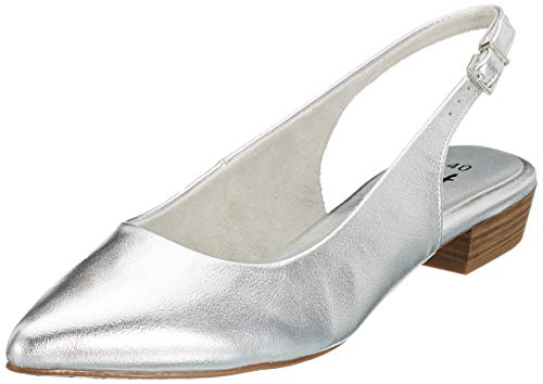 Tamaris Damen 1-1-29402-22 Slingback Pumps, Silber (Silver 941), 37 EU