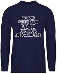 Nerds & Geeks - Wi-Fi Home - Longsleeve / langärmeliges T-Shirt für Herren