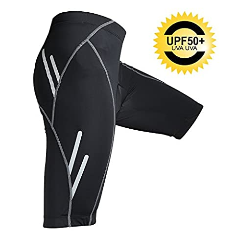 Herren Fahrradhose kurz UPF50+ Radhose 3D Gel Polsterte MTB Hose Nacht Safe Fahrradshorts Radsporthosen Bike Shorts (EU-Größe, L)