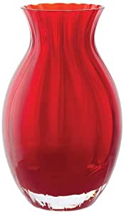 Dartington Crystal Little Gems Oval Vase, Red