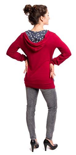 Viva la Mama Still Hoodie I 3in1 Stillpullover Schwangerschaft Kleidung Umstands Pullover Umstandsmode für Schwangere I Kapuzenpulli Elise Bordeaux