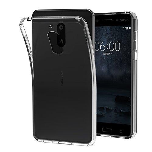 Custodia Cover Nokia 6, iVoler Nokia 6 Silicone Caso Molle di TPU Cristallo Trasparente Sottile Anti Scivolo Case Posteriore Della Copertura Della Protezione Anti-urto per Nokia 6 (Crystal Clear)