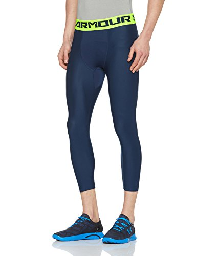Heatgear Compression Legging Fit (Under Armour Herren Hg Armour 2.0 3/4 Leggings, Academy, LG)