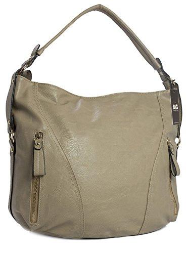 Big Handbag Shop - Borse a spalla donna (beige)