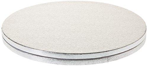 Decora 0931245 Dessous de Gâteau Rond Carton Argent Diamètre 30 cm Coffret de 2