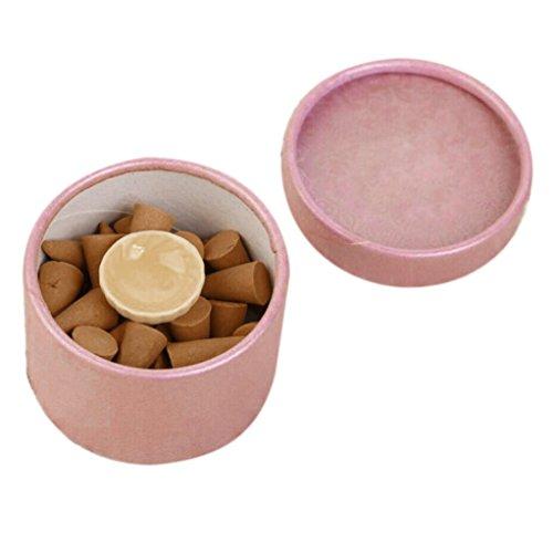 Zitronen-salbei-kerze (ESAILQ 1 Pc Natural Rauch Räucherstäbchen Pagode Indoor Aromatherapie Räucherstäbchen Bullet Aroma Schlafzimmer Wohnzimmer (Sandelholz))