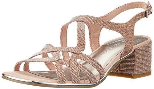 MARCO TOZZI 2-2-28222-32, Sandali con Cinturino alla Caviglia Donna, Rosa (Rose Metallic 592), 37 EU
