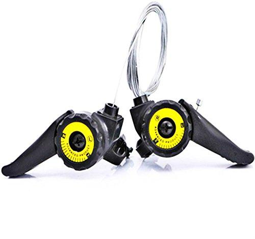 Leneomstore Material Robusto Palancas de Cambio de Bicicleta de Velocidad Variable Palancas de Cambio Manija de Ajuste de Velocidad