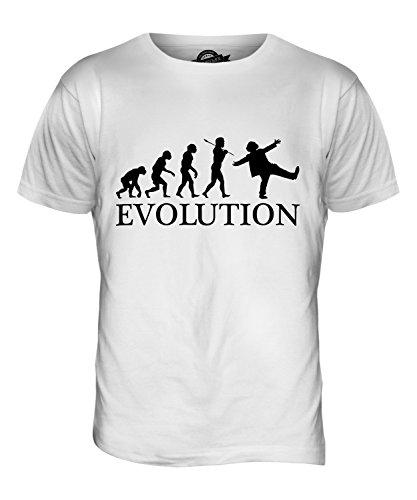 CandyMix Clown Evolution Des Menschen Herren T Shirt Weiß