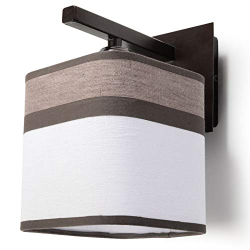 Sollux Lighting LATTE Wandleuchte, Stahl, Braun, Weiß -