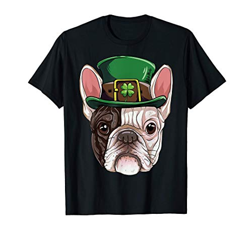 Soft Französische Bulldogge Kobold T Shirt St. Patricks Day Dog Geschenke Herren Hip Hop Outfit Coole Tanktops Schwarze Tops Comfortable (Color : Black, Size : L) - St Patricks Den Day Outfits Männern