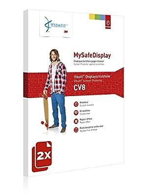 2x Vikuiti MySafeDisplay CV8 Displayschutz Schutzfolie für Bosch Intuvia Active Line (E-Bike Display) (Ultraklar, strak haftend, versiegelt Kratzer)