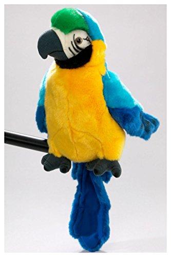 Peluche - Loro marioneta de mano (felpa, 25cm) [Juguete]